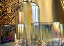Holographic jug with 6 pieces of glass