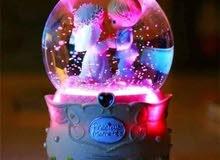 boule de neige musical lumineuse grande format