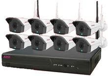 طقم 8 كاميرات IP ليلية نهارية ملونة