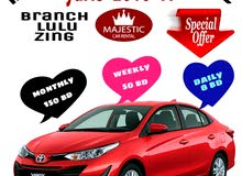 الفخامة لتأجير السيارات MAJESTIC CAR RENTAL  yais  city  spark SUNNY  accents