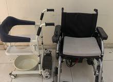 كرسي كهربائي ومقعد حمام للمعاقين جديد