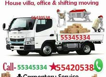shifting moving truck carpentar services call 55345334