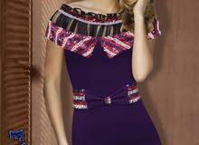 3130 فستان كريب سكوبا  فري سايز  السعر 6500