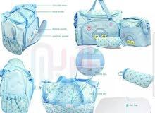 طقم حقائب للأمهات من 4 قطع نمط سيارة