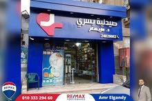 صيدليه للبيع في صلاح سالم عمارات العبور المساحه : 40 متر + 40 متر مخزن
