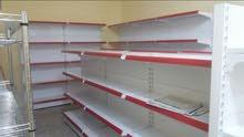 بيع وتركيب وتجهيز الرفوف للمحلات التجارية الصغيرة والمتوسطة بأسعار مغرية جدا