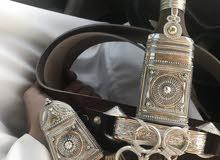 جنبية الراس قرن والسلة عمانية وصب فظة