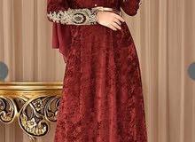 فستان مخمل تركي
