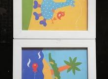 مجموعة لوحات حائط