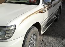 White Toyota Land Cruiser 2001 wanted مطلوب