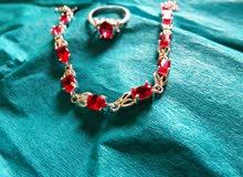 اسوارة مع خاتم فضة 925 ستاتي جديدة للبيع new women 925 silver Bracelet & ring for sale