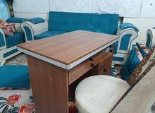 مكتب طول متر جديد مامستخدم وكرسي