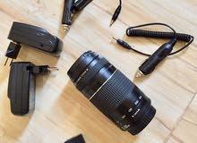 كاميرا 750D مع عدسة 75-300  . كاميرا نظيفه (سبب البيع تغير لكاميرا ثانيه)