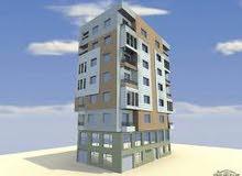 عمارة بناء حديث  ابع طوابق مساحة الارض 150 متر واجتين