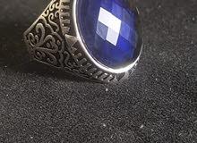خاتم فضة ايطالي حجر زفير