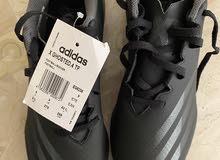 حذاء اديداس لكرة القدم احدث اصدار اصلي أسود جديد