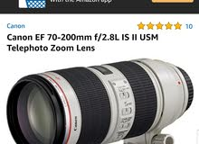 Canon EF 70-200mm f/2.8L IS II USM Telephoto Zoom Lens Mark 2    Good  conditio