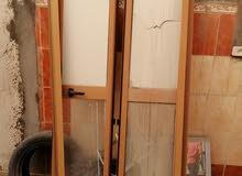 باب PVC خشبي
