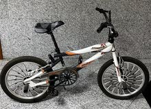 Bike/ Bicycle for sale (white and black color with designs)