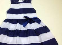 فستان ازرق للاطفال من عمر 2الى3
