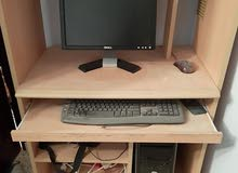 جهاز كمبيوتر مكتبي شبه جديد كامل بجميع ملحقاته سعر بيع 340 او تبديل تلفون موصفات