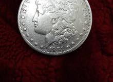 دولار فضه امريكي نظيف و قديم جدا  1881-O