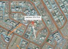 للبيع ارض سكنية مميزة وحلوة  بمرتفعات بوشر 872 م