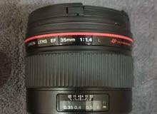 Canon EF 35mm f1.4 lens.