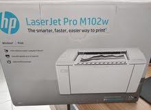 طابعة ،hp laserjet pro M102w