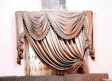 thick velvet design curtain camel colour 2.5 meter