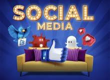 مصمم اعلانات و ادارة حسابات التواصل الاجتماعي بحتراف