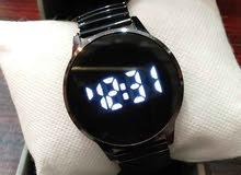 ساعة تاتش دائرية أسود