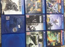 للبيع 10 اشرطة PS4