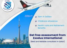Benefits of Migrate to Canada From Qatar. Exodus consultant is the best consultant in Qatar