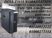 DELL T3610 Intel E5-2637 v2, 3.50 GHz 8 Core_threads Cache15MB