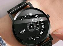 ساعة يد رجالي أنيقة مع العلبة