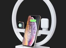 3-IN-1 WIRELESS CHARGING LAMP FOR IPHONE/ IWATCH/ AIRPODS