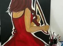 لوحات مودرن رسم يدوي للبيع