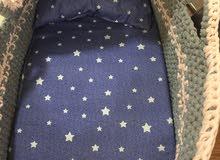 سرير اطفال عمل يدوي من خيوط التيشيرت جميل اغتنمه الآن جاهز للتسليم للاطفال الجدد