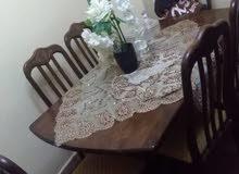 طاولة سفره مليزي خشب زان 6كراسي