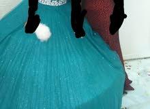 فستان خطبه عدد 2 وفستان زفاف مع برنس وطرحه