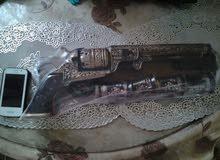 لمحبى اقتناء التحف النارة مسدس فخار واربع كوبايات طول نصف متر  وارد روسيا