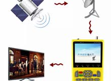 جهاز مكتشف إشارة التلفزيون من FREE SAT - بشاشة عرض LCD 3.5 انش، 100-240V، بقابس أوروبي/أمريكي