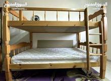 سرير مزدوج وبمكن وضعه منفصل