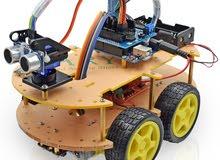 Wheels Elegoo Project Smart Robot Car Kit -مجموعة سيارة ذكية رباعية الكفرات
