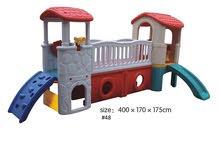 Plastic Kids Playground With 2 Sliders