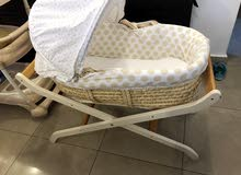 baby basinet basket with stand