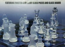 جدة شطرنج زجاجي من البلورالحر  Crystal Chess