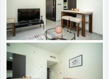 دبي بيزنس باي غرفة وصالة مفروشة سوبر لوكس مع بلكونة - ايجار شهري شامل