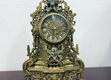 French GILT SEVRES CLOCK GARNITURE